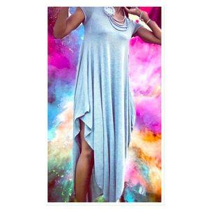 Dresses & Skirts - Heather Grey Pleated Maxi